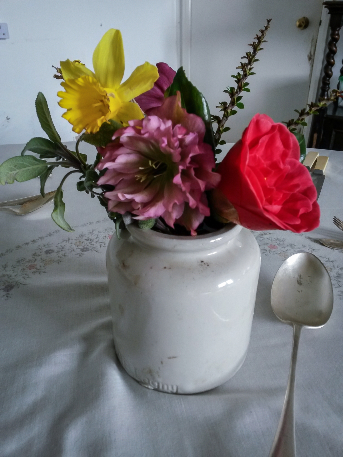 In a vase on Monday (and on a cake onSunday)